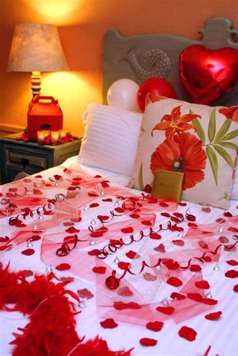 romantic valentines decorations ideas  bedroom