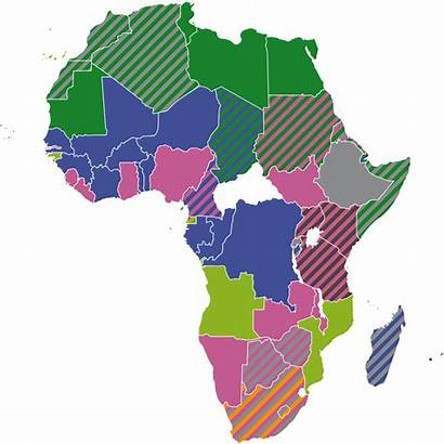 Africa Official Languages African Map Transparent Svg