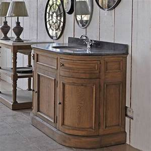 meuble lavabo chene arrondi With meuble de salle de bain arrondi