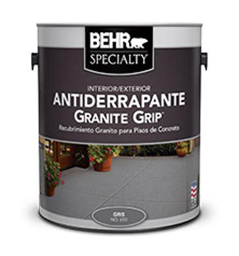 pintura interior y exterior para concreto granite grip behr