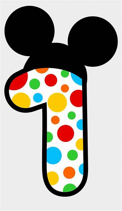 Numbers Mickey Mouse Minnie Jing Fm Clipart