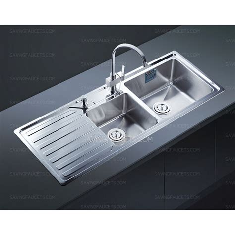 drainboard sink modern style double bowl kitchen sink with drainboard 927 99