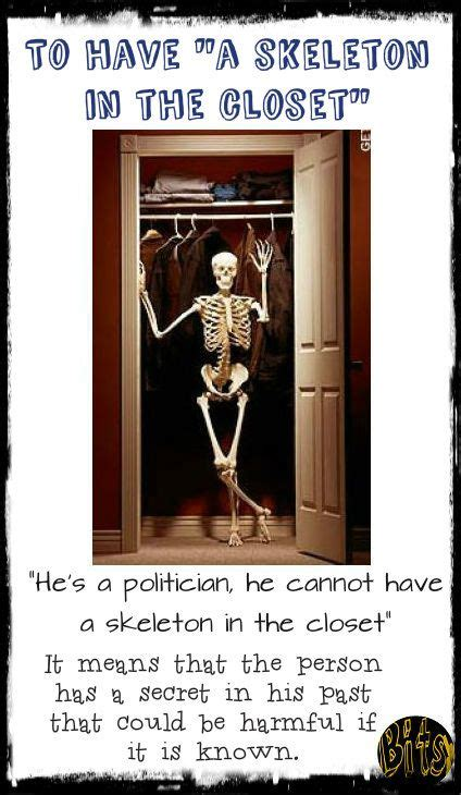 Skeleton In The Closet Idiom by 122 Best Images About Idioms Phrases On