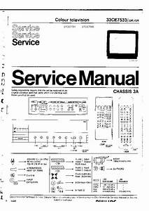 Philips 33ce7533 Chassis 3a  Service Manual  Repair Schematics