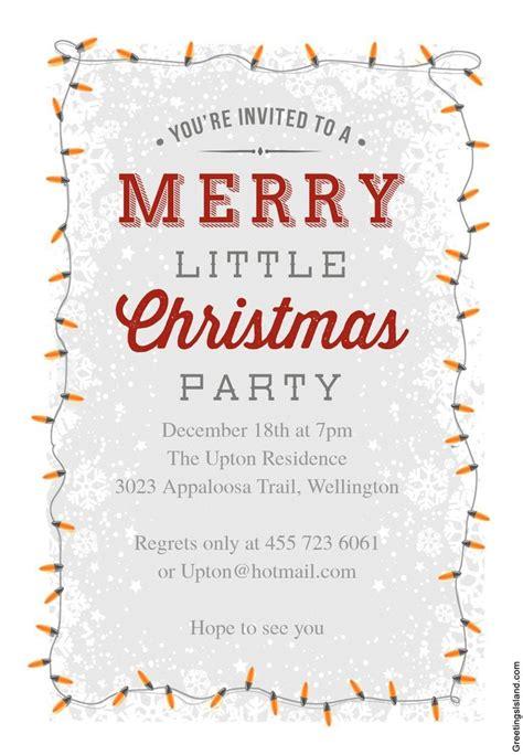 printable christmas party invitations christmas