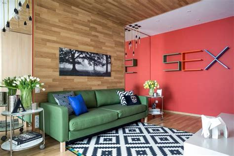 cheerful colorful living room design ideas