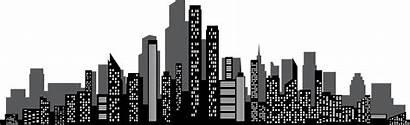 Silhouette Clipart Skyscraper Background Skyline Town Transparent