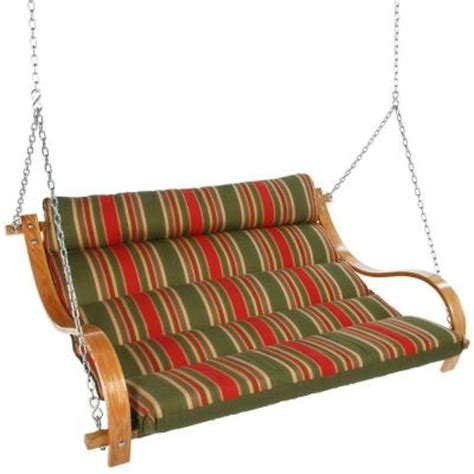cushion swing with oak arms trellis garden c gn01x