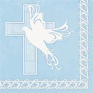 Baby Boy Baptism Cross Clip Art