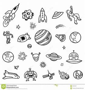 Hand-drawn Outer Space Doodles Stock Vector - Image: 51681031