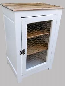 Grillage Garde Manger : garde manger ancien en bois peint porte grillag e ~ Teatrodelosmanantiales.com Idées de Décoration