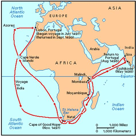 Route Vasco Da Gama by Map Of Da Gamas Voyage Images Frompo 1