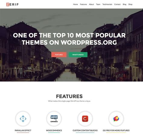 One Page Theme 15 Best Free One Page Themes 2017 Themegrill