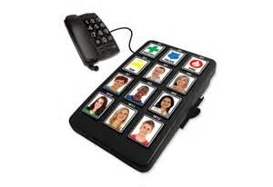 big phone number big button photo dialer sharper image