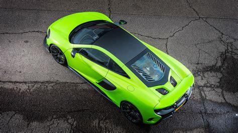 Mclaren 675lt Green Supercar Top View 4k Laptop Wallpaper