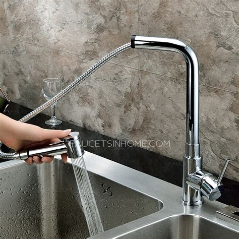 Modern Pullout Rotatable Copper Lead Free Kitchen Faucet