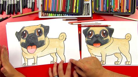 draw  pug art  kids hub