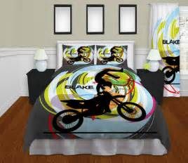 personalized motocross comforter motocross by eloquentinnovations