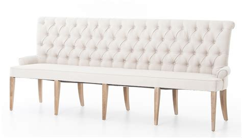 Four Hands Theory Light Sand Banquette   CSD 0042