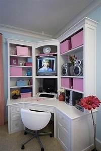 Bureau Ado Fille : la d co chambre ado fille esth tique et amusante ~ Melissatoandfro.com Idées de Décoration