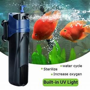 Sauerstoff Im Aquarium : 5w uv sterilisator tauchf hig sauerstoff filterpumpe wasserkl rer aquarium tank ebay ~ Eleganceandgraceweddings.com Haus und Dekorationen