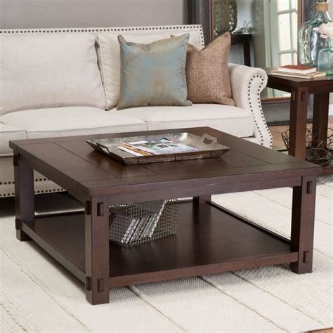 Coffee table decoration ideas best design 2020. Square Wood Coffee Table in Espresso Finish