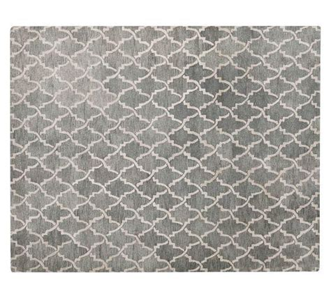 scroll tile rug gray pottery barn