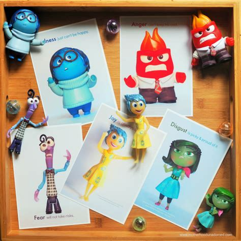Talking To Kids About Emotions { Inside Out Printable Feelings Flash Cards }