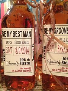 custom wedding party and groomsman liquor labels bourbon With custom liquor labels for groomsmen