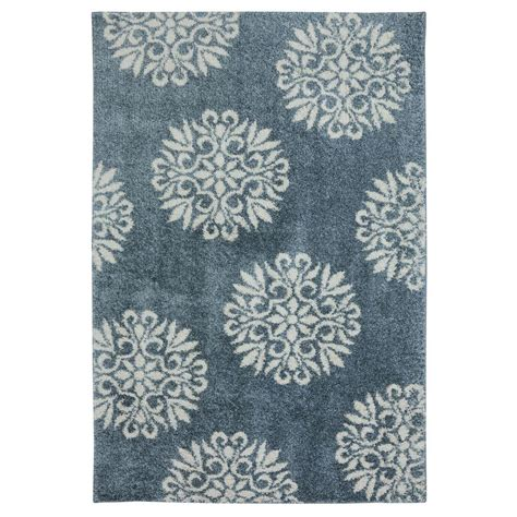 blue and area rugs mohawk home exploded medallions blue woven 3 ft 4 in x 5