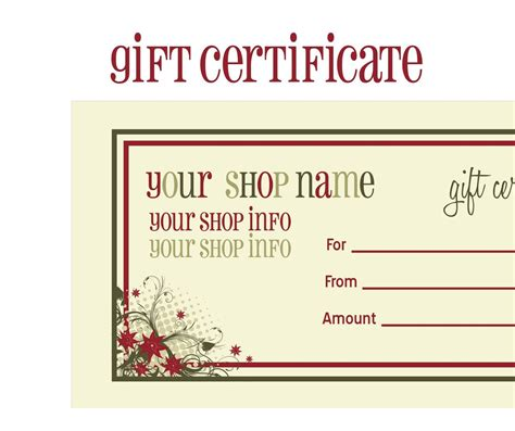 gift certificate template free printable printable gift certificates new calendar template site