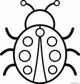 Bug Coloring Pages Coloring4free Preschool Related Posts sketch template