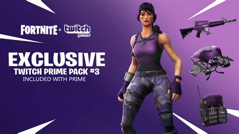 fortnite twitch prime wrap  twitch prime pack