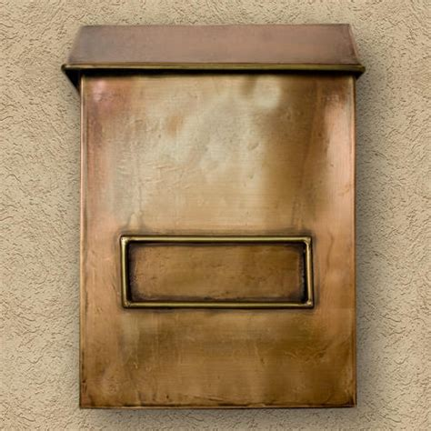 wall mount mailbox brexton vertical wall mount copper mailbox outdoor 4612