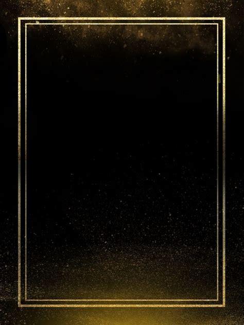 black gold border minimalistic background   gold
