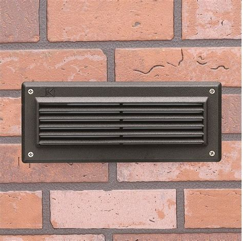 15073 low voltage brick outdoor step light with louvers