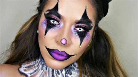 sexy glam circus clown makeup tutorial halloween makeup youtube