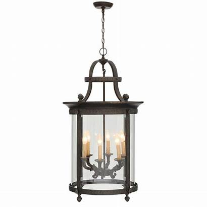 Hanging Outdoor French Bronze Chandelier Lantern Imports
