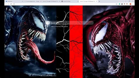 upcoming venom  carnage hd wallpaper chrome theme youtube