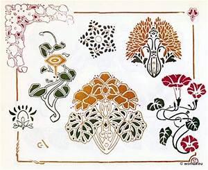 Jugendstil Florale Ornamente : jugendstil ornamente vorlage f r tattoo stickerei ~ Orissabook.com Haus und Dekorationen