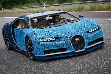 The test drive of the lego chiron took place at the ehra lessien proving grounds in germany. Life-size LEGO Technic Bugatti Chiron you can drive   Self Driving Cars 360