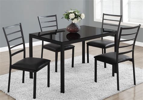 black metal  piece rectangular dining room set  monarch