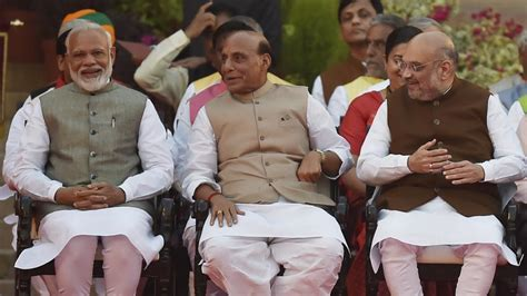 Modi New Cabinet Ministers by Amit Shah Gets Home Ministry Rajnath Singh Defence In Pm