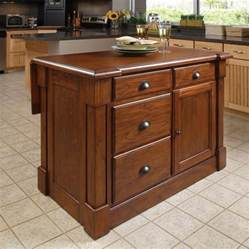 kitchen island lowes shop home styles brown midcentury kitchen island at lowes