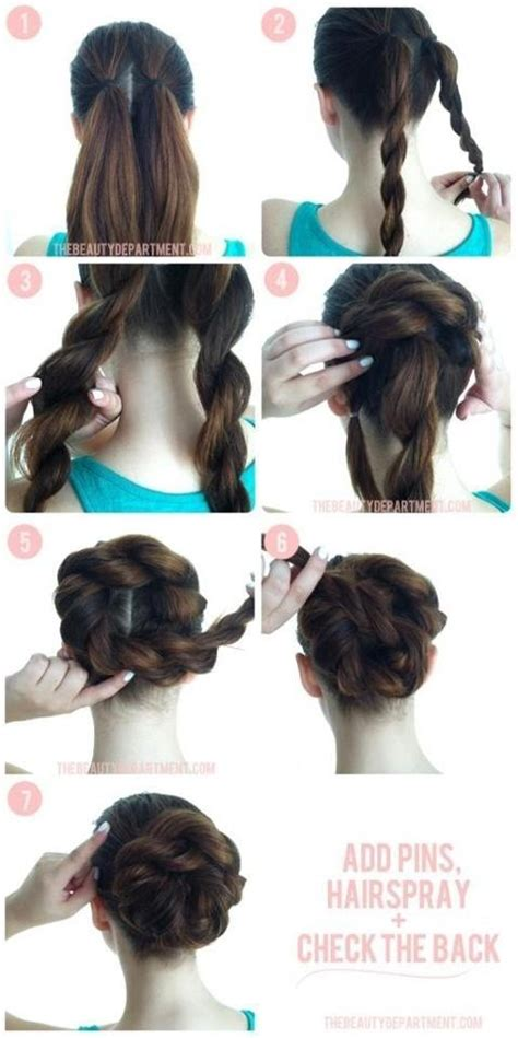 Easy Updo Hairstyle Tutorials by 15 Beautiful Hairstyles With Tutorials Pretty Designs