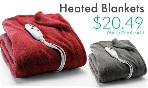 Hot! Kohls Heated Blankets .49 Each (was  Best Yarn For Blanket Big Blankets And Throws Tied Edge Fleece How Many Stitches A Cheap Thick Gucci Baby Sale Swaddle Canada Homemade No Sew
