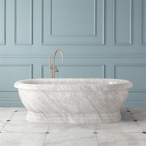marble tubs 71 quot tiberius ended pedestal tub polished
