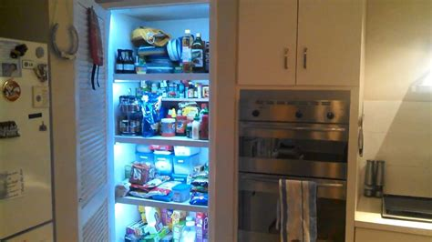 diy automatic led strip lights   pantry youtube