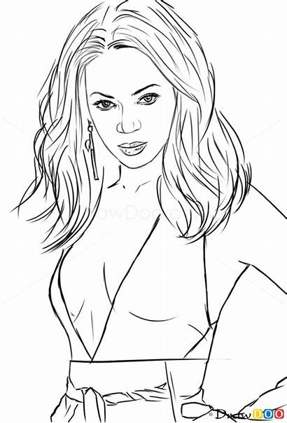 Cartoon Drawings Famous Celebrities Celebrity Draw Coloring