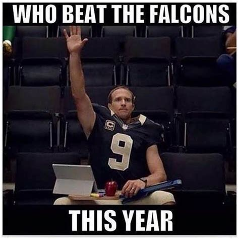 Falcon Memes - funniest new orleans saints memes after being atlanta falcons new orleans saints pinterest
